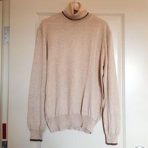 Gucci Sweater Camel Silk Turtleneck XXL